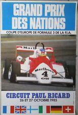 AFFICHE ANCIENNE GRAND PRIX DES NATIONS CIRCUIT PAUL RICARD 1985