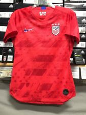 Nike Usa Away Womens Soccer WC 2019 Jersey Red Blue Stadium Cut Size Small Only