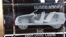 Karmann SUC | Sport Utility Cabrio | 3D Laser im Glas | neu und OVP