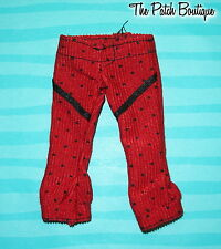 MONSTER HIGH GHOULIA YELPS 1ST ORIGINAL DOLL OUTFIT REPLACEMENT RED PANTS ONLY