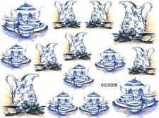 BLuE DeLfT ViCToRiaN TeaSeTs ShaBby WaTerSLiDe DeCALs