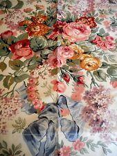 """2 Ralph Lauren ALLISON Floral Rod Pocket Lined Curtains Panels Drapes 42""""x84"""""""