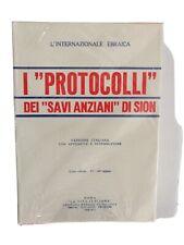 I protocolli dei savi anziani di Sion ebraismo fascismo Preziosi Julius Evola