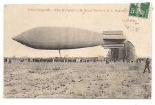 """le ballon dirigeable  """"ville de paris"""" mr henry deutsch de la meurthe ,la sortie"""
