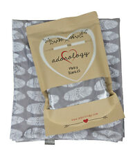 """Minky Baby Nursery and Toddler Blanket 30"""" x 40"""" Gray White Feathers Shower Gift"""