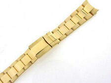 MENS 18KY GOLD OYSTER WATCH BAND FOR ROLEX DAYTONA 20MM