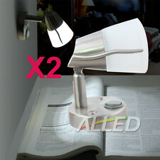 12V Swivel LED Frosted Glass Reading Lamp Cool White RV/Marine/Car/Trailer Light