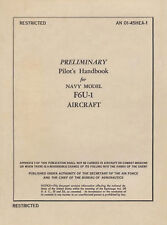 VOUGHT F6U-1 PIRATE / PRELIMINARY PILOT'S HANDBOOK 1949