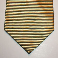 NEW J.S. Blank & Co. Silk Neck Tie Metallic Yellow Gold with Black Lines 1355
