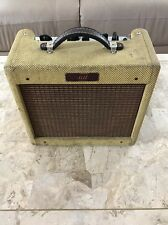 Rare 90s Fender Bronco Guitar Combo Amp Tweed 15W 8 Ohm Rust Worn In Cool USA