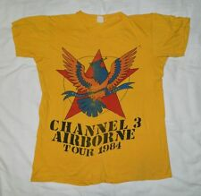Vintage CHANNEL 3 1984 AIRBORNE TOUR T-SHIRT XL CH3 PUNK ROCK 80S mdc the damned