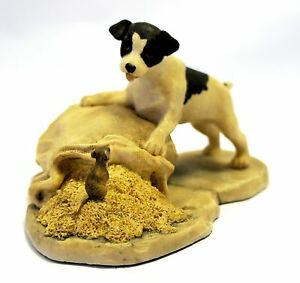 Border Fine Arts - Terrier Pup and Mouse - FE13B - (black) - Made in Scotland