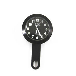 Universal Aluminum Mount Clock Waterproof Black Dirt Bike Chopper Motorcycle ATV