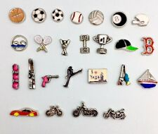sports,games, hobbies,cheer and dance charms for your Floating Locket