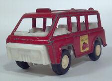 Vintage Tootsietoy 1970s Fire Chief Emergency Van Bus Die Cast Scale Model