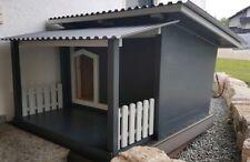 Luxus Hundehütte mit Terrasse abnehmbar neu - Farbe + Isolierung nach Wahl