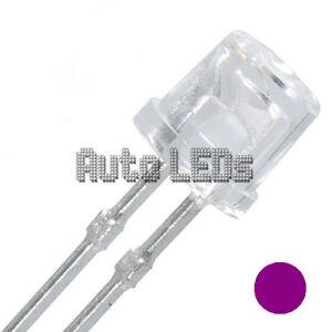 15 x UV/Purple LED 5mm Flat Top - Super Bright