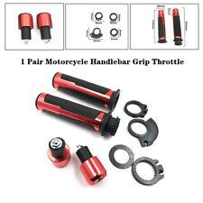 2pcs Motorcycle Bike Handle Bar 22mm Grip Throttle End Indicator Grip Plug Kits