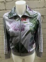 Adidas Women's Originals Track Top Size 6 Floral Short Jacket