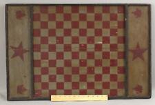 Antique Early 20thC Canadian Folk Art Painted 144 Square Star Game Board, NR