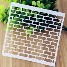 Brick Pattern Layering Stencil Template DIY Scrapbooking Home Decorate Gift @