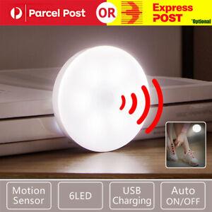 Motion Sensor LED Night Light Body Induction Lamp USB Rechargeable Wall Mount AU