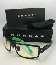 New GUNNAR Computer Glasses RAZER RPG Onyx Black Green Frame Amber Yellow Lenses