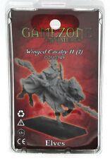 Gamezone GZM0349 Elves Winged Cavalry II Mounted Elf Knight Warrior Miniature