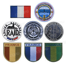France GIGN GIPN BRI RAID Sew Embroidered Patch Shoulder Flash Badge UK