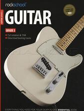 Rockschool chitarra grado 5 2012-2018 Scheda Libro & ONLINE AUDIO Esercizi Test