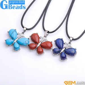 """Butterfly Fashion Silver Pendant Necklace Chain Cute  Crystal Charm 16"""" Freeship"""