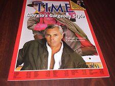 1982 APRIL 5 TIME MAGAZINE - GIORGIO ARMANI no label