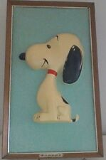 """Vintage Peanuts Snoopy """"Snoopy""""  3D Picture Photo Frame Rare"""