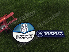 Euro 2008 Champions Spain Soccer Sleeve Patch Set + Respect / for Euro 2012