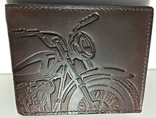 Fossil Men's Vintage Motorcycle Wallet Brown Leather RFID Bifold FlipID Classic