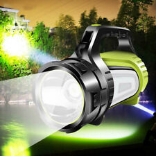 100000LM Powerful LED Flashlight USB Rechargeable Searchlight Torch Camping Lamp