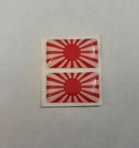 JAPAN RISING SUN FLAG 3D DOMED BADGE LOGO EMBLEM STICKER GRAPHIC DECAL CAR JDM .