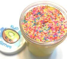 Banana Puding Fluffy Slime. Scented. Kuiti Slimes +FREE mini mystery slime.
