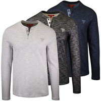 GUESS Men's Dunston Henley L/S T-Shirt (Retail $39.99) S01
