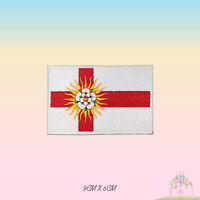 WEST RIDING UK County Flag Embroidered Iron On Patch Sew On Badge