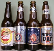 Vintage Beer Bottle Lot ~ Strobe City ~ Stroh's Light ~ Stroh's ~ Michelob Dry