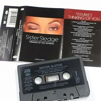 SISTER SLEDGE THINKING OF YOU 1993 MIXES CASSETTE TAPE SINGLE CLASSIC POP