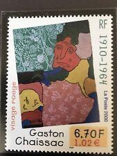 N° 3350 Neuf ** Visage Rouge Gaston Chaissac