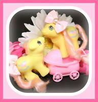 ❤️My Little Pony MLP G1 Vtg BABY Newborn Twins Milkweed & Tumbleweed Set❤️