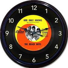 Beach Boys Wall Clock Retro Image of Vinyl 45 RPM Record God Only Knows New 10""