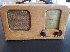 1939 TRUETONE PORTABLE BATTERY RADIO 5 B3 SERIES Wells-Gardner PARTS OR DISPLAY