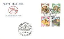 FDC Cavallino - Italia 1994 - Castelli d'Italia 4 valori - NVG - annullo Roma