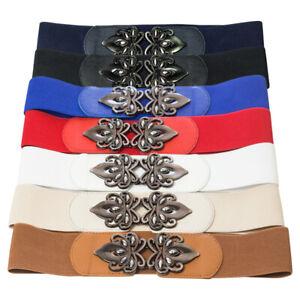 Women's Wide Elastic Waist Belt Fashion Waistband Dress Lady Stretchy Cinch Belt