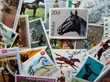 Thematic pack of 100 Horses/Farm animals MNH & CTO FREE DELIVERY