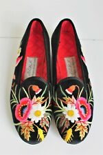 BERK Burlington Arcade Luxury Embroidered Slip On Slipper Shoes Sz Uk 6 Quilted